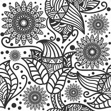 decorative flower wallpaper vector graphic
