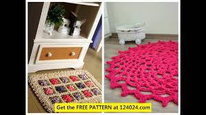 crochet rug pattern crochet bathroom rug crochet rag rugs patterns