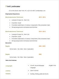 Example Basic Resume Interesting Example Of A Basic Resume Template Best Resume Examples