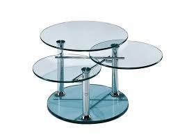 swivel glass coffee table intermezzo by draenert