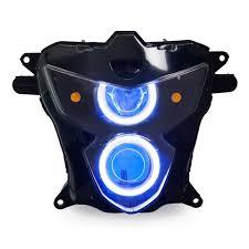 Hid Lights For Gsxr 600 Kt Headlight For Suzuki Gsxr750 Gsx R750 2004 2005 Led Angel