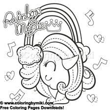Cute Unicorn Rainbow Music Coloring Page 554 Freeprintable