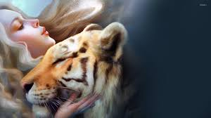 with pet tiger wallpaper