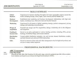 skills section of resumes