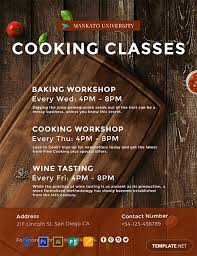 Basic Flyer Template Free Cooking Classes Flyer Template Word Psd Apple