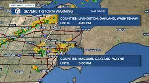 Severe Thunderstorm Warning ...
