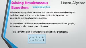 21 solving simultaneous linear algebra equations