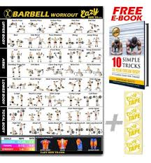 Barbell Weight Lifting Bar Exercise Workout Banner Poster