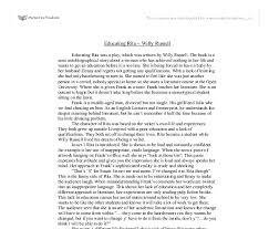 educating rita essay help acirc portalbsd com br educating rita essay help