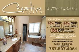 bathroom remodeling virginia beach. Delighful Beach Creative Living Bathroom Bathroom Shower Remodeling Virginia Beach To H