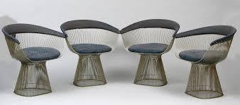platner furniture. Four Warren Platner Steel Wire Chairs For Knoll Mid Century Modern Swivel Club Chair Furniture