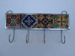 Key Holder For Wall Talavera Tile Key Holder Mexican Handmade Wall Hanging Key Hook