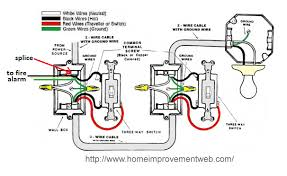 light on turns power to fire alarm Wiring Diagram For Two Way Light Switch Photo Album How to Connect 2- Way Light Switch