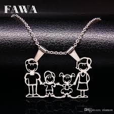 whole whole stainless steel mama family necklaces jewelry silver love cute boys girls pendants necklace for women gift n166264 white gold