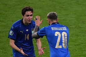 Chiesa celebrate Italy's win over Spain ...