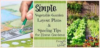 simple vegetable garden layout plans