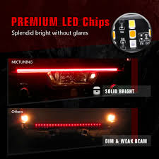 3 Color Led Tailgate Light Mictuning Tailgate Light Bars Triple Row Tailgate Brake