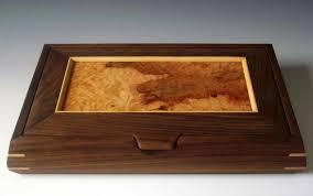 handmade jewelry box mens valet box or ladies earring jewelry box