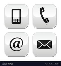 Email Buttons Contact Buttons Set Email Mobile Phone