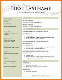 Latest Resume Formats For Freshers Resume Pattern For Freshers