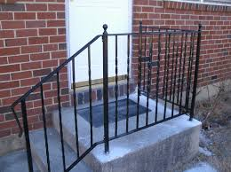 Wrought Iron Handrails Stair Railing Simple Elegant Wrought Iron Railing No Pickets Cast