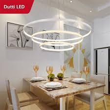 dutti d0046 circle led chandelier for living room restaurant bedroom study room office creative art simple
