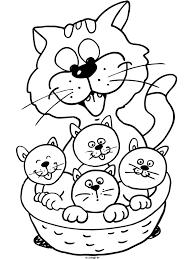 Kleurplaten Schattige Katjes Katzen Malvorlagen Malvorlagen1001 De