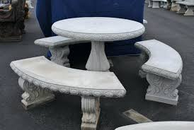 round table concrete table and benches round table set concrete table and benches near round table