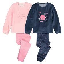 Комплект из <b>2 пижам</b> из велюра 3-12 лет темно-синий + розовый ...