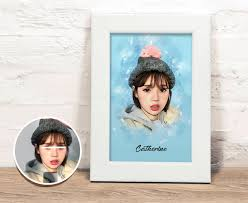 customized process order payment pass the photo to the photo select the background color and text draw completed print send out