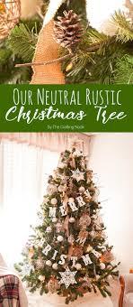 Neutral Rustic Christmas Tree
