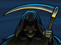 grim reaper cartoon character sketch by