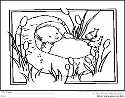 Coloring Page Baby Moses Sunday School Coloring Pages Baby Moses