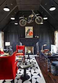 Motocross Bedroom Decor 20 Home Offices That Turn To Red For Energy And Excitement