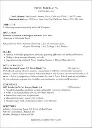 Resume Examples For Jobs With Little Experience Resume Examples