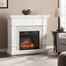 harper blvd reese white faux stone corner convertible infrared electric fireplace glass dimplex insert chimney liner