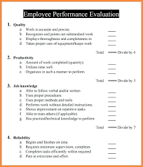 Examples Of Performance Review Sample Employee Evaluation Form 9 Examples In Word Regarding