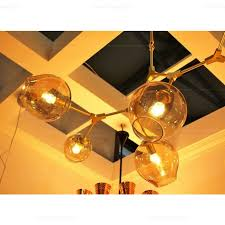 branching bubble chandelier 5 globe