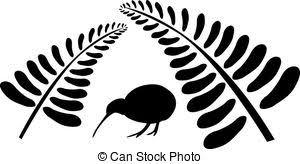 キーウィ鳥ベクタークリップアートイラスト626 キーウィ鳥クリップ