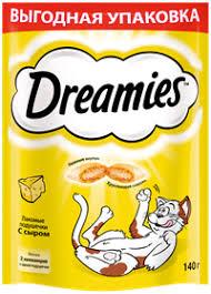 <b>Лакомство для кошек DREAMIES</b> с сыром – купить в сети ...