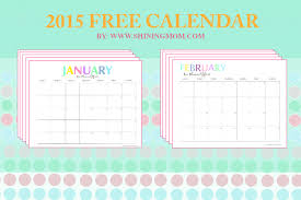 calendars monthly 2015 free printable your pretty 2015 monthly calendars