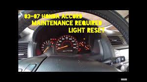 How To Reset Maintenance Light On Honda Accord How To Reset Maintenance Required Light On Honda Accord 2003 2007