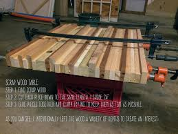 Homemade Kitchen My Homemade Scrap Wood Table Step By Step Tutorial By Stephen