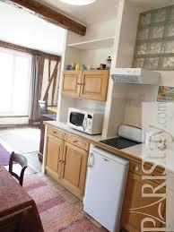 Kitchen Alcove Studio Long Term Rental Paris Accommodation Bastille 75011 Paris