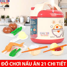 Đồ Chơi Nấu Ăn Cho Bé Gái 21 Chi Tiết - Bộ Đồ Chơi Nồi Cơm Điện ( Giao Màu  Ngẫu Nhiên ) trong 2021