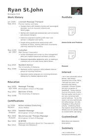 Massage Therapist Cv Examples Awesome Massage Therapist Resume