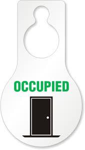 Occupied With Door Graphic Door Knob Hanger 8 875 X 5 Inches Signs