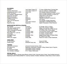 Actors Resume Format Amazing 48 Useful Sample Acting Resume Templates To Download Sample Templates