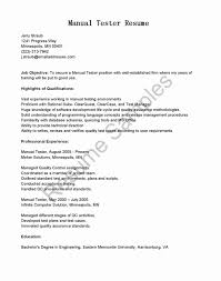 Sample Resume For Manual Testing Manual Testing Resume Beautiful 60 Inspirational Sample Resume for 60 22