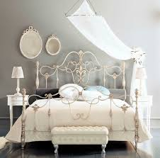 Metal Bed Bedroom Fancy Wrought Iron Beds With Silver Color Bedroom Pinterest